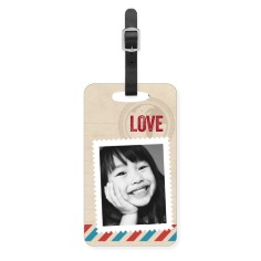 stamped in love luggage tag