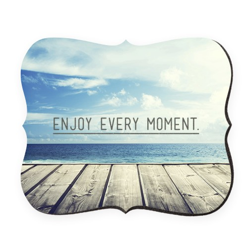 Enjoy Every Moment Mouse Pad, Bracket, Black