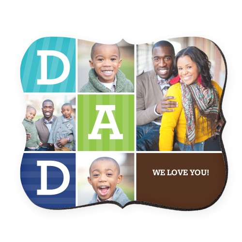 Dad Color Blocks Mouse Pad, Bracket, Multicolor