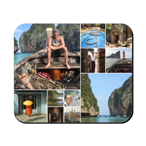 Collage Squares Mouse Pad