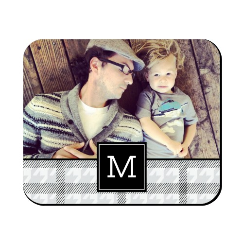Houndstooth Monogram Mouse Pad