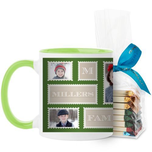 Love Family Stamps Mug Green
