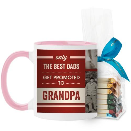 The Best Mug, Pink, with Ghirardelli Assorted Squares, 11oz, Red