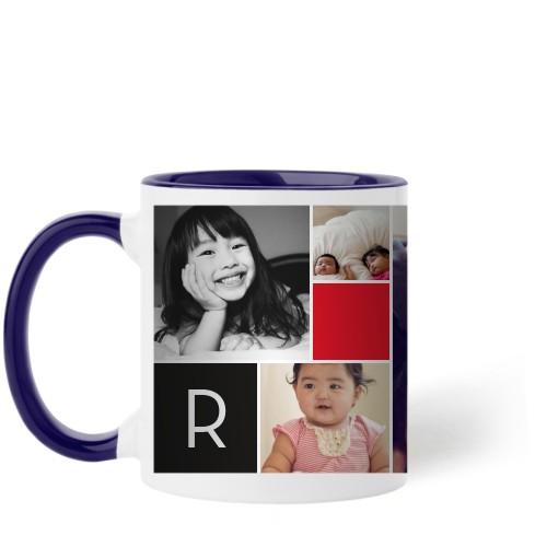 Monogram Memories Mug, Blue,  , 11 oz, Red