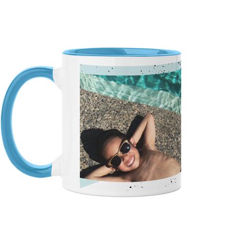Splatters Mug, Light Blue,  , 11 oz, DynamicColor