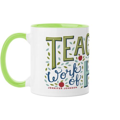 Teacher Heart Mug