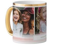 soft watercolor stripes mug