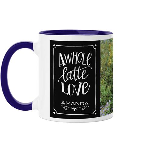 Whole Latte Love Mug, Blue,  , 11 oz, Black