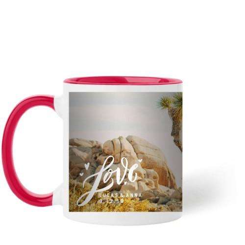 Full of Love Mug, Red,  , 11 oz, White