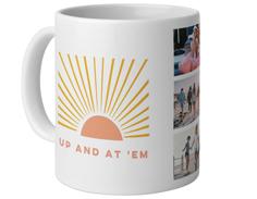 sunrises and coffee mug
