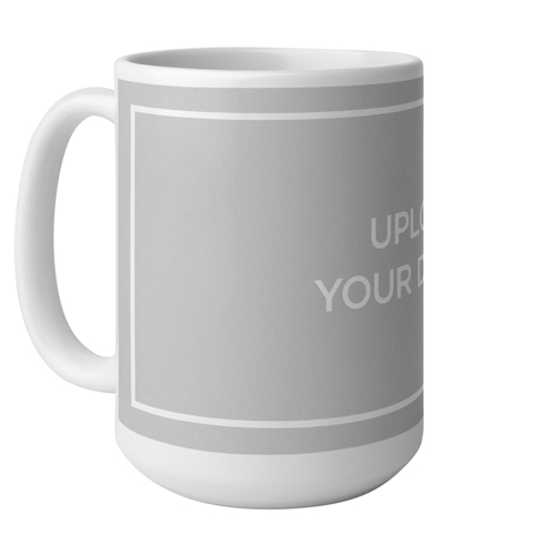 Upload Your Own Design Mug, White,  , 15 oz, Multicolor