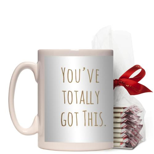 Graduate You've Got This Mug, White, with Ghirardelli Peppermint Bark, 15 oz, goldfoil