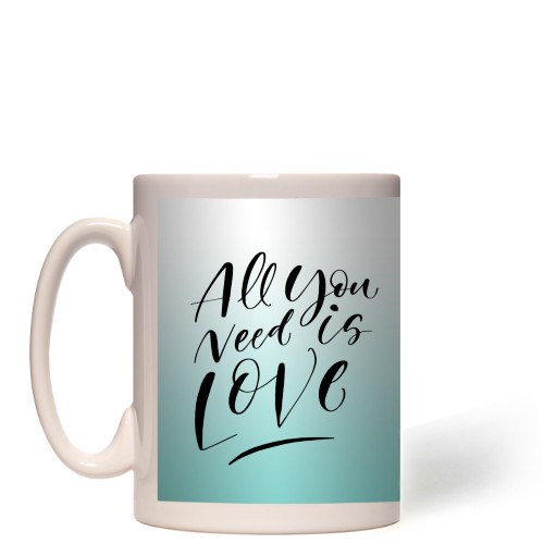 All You Need Is Love Ombre Collage Mug