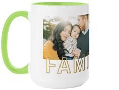 contemporary family collage mug