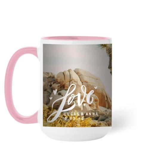 Full of Love Mug, Pink,  , 15 oz, White