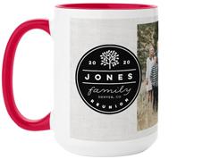circle family collage mug
