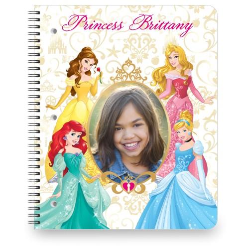 Disney Princesses Notebook, 8.5x11, Yellow