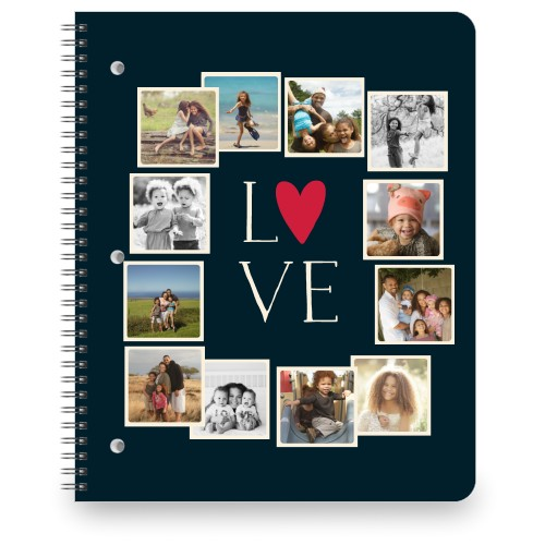 Love All Around Collage Large Notebook, 8.5x11, DynamicColor