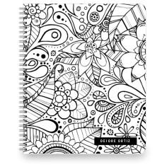 color me floral large notebook
