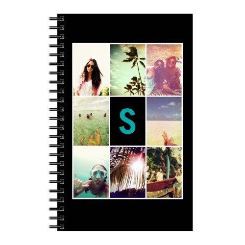 Monogram Grid Collage Notebook