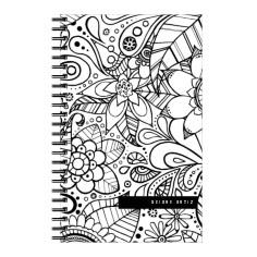 color me floral 5x8 notebook