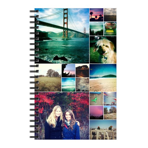 Collage Squares Notebook, 8x5, White