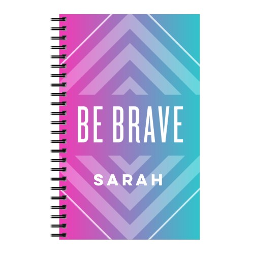 Active Ombre Brave 5x8 Notebook, 8x5, Pink