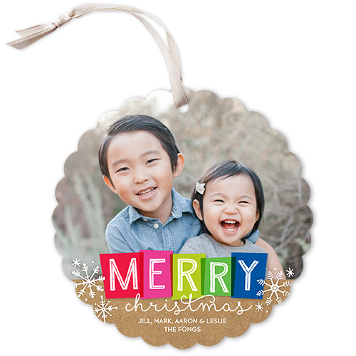 Colorful Merry Christmas Card
