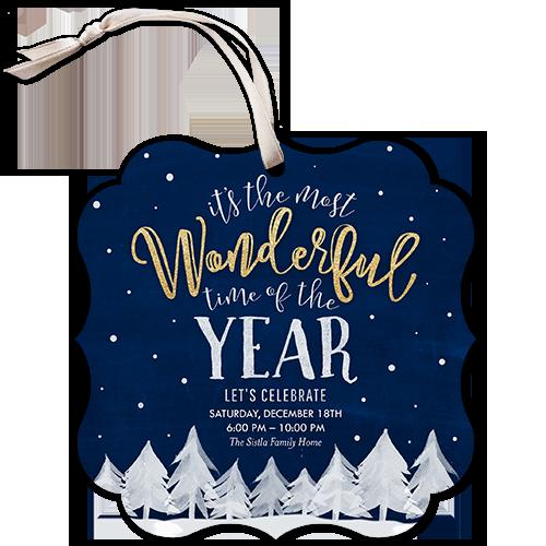 Wintry Celebration Holiday Invitation
