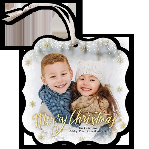 Snow Shine Christmas Card, Square