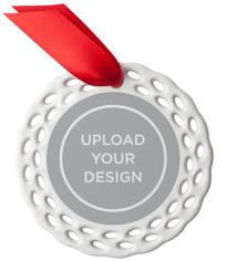 upload your own design ceramic ornament