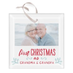 grandparents first christmas glass ornament