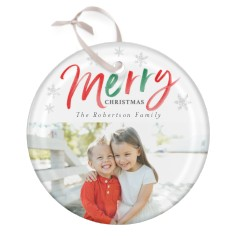 colorful merry glass ornament