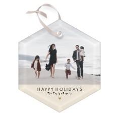 modern holidays glass ornament