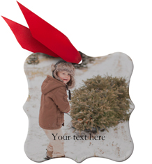 holiday frame metal ornament