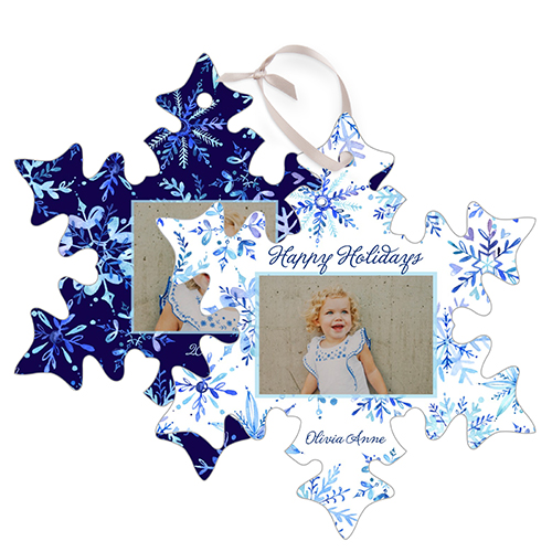 Elegant Snowflakes Snowflake Metal Ornament, White, Snowflake