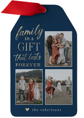 family is a gift metal ornament