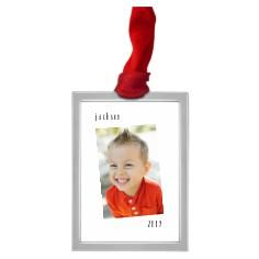 tilty framed vertical pewter ornament