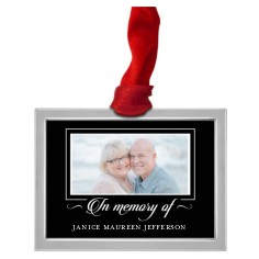 in memory of pewter ornament