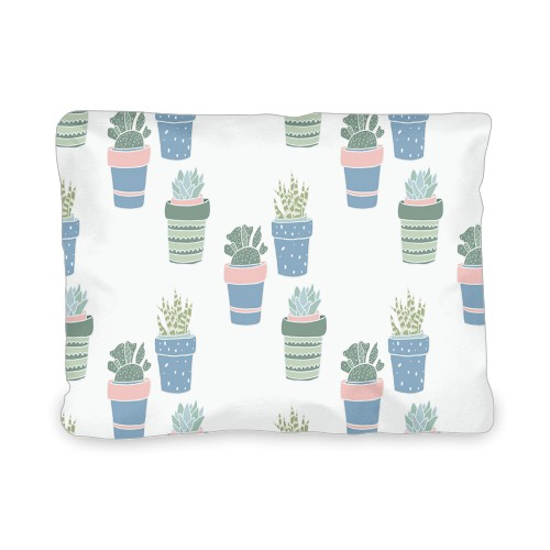 Multi Succulent Outdoor Pillow, Pillow, 12 x 16, Double-sided, Multicolor