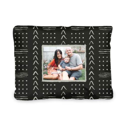 Black Aztec Outdoor Pillow, Pillow (Black), 12 x 16, Single-sided, Black