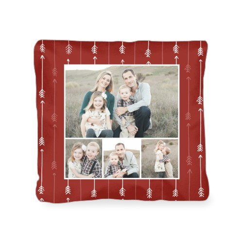 Arrow Collage Outdoor Pillow, Pillow (Ivory), 18 x 18, Single-sided, Red