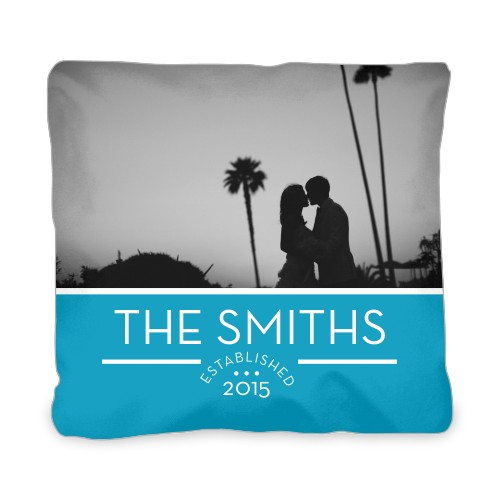 Forever Ours Outdoor Pillow, Pillow (Black), 20 x 20, Single-sided, Blue