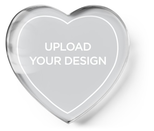 Upload Your Own Design Paper Weight, Heart Paper Weight, Multicolor