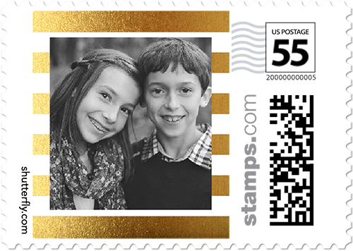 Basic Stripes Personalized Postage Stamps