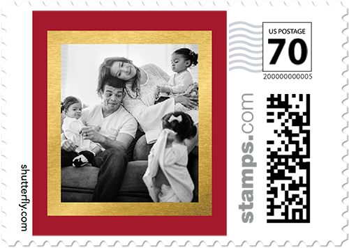 Joyful Delivery Personalized Postage Stamps
