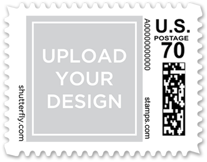 Social titles small postage stamp custom stamps shutterfly for Post office design your own stamps