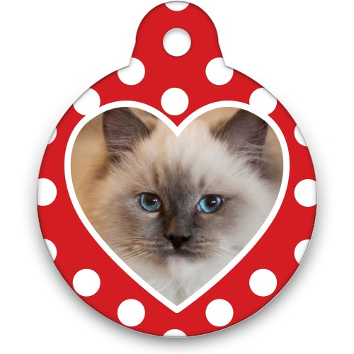 Heart Frame Circle Pet Tag