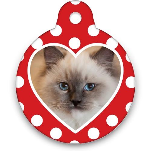 Heart Frame Circle Pet Tag