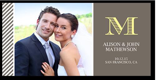 Special Monogram Wedding Announcement